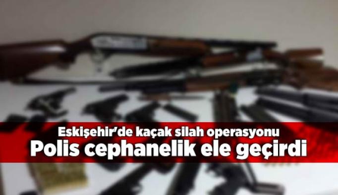 Eskişehir'de kaçak silah operasyonu