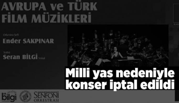 Eskişehir'de milli yas nedeniyle konser iptal edildi