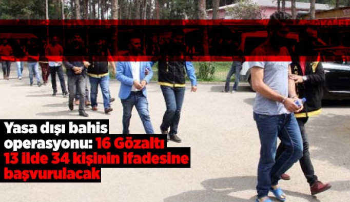 Eskişehir'de yasa dışı bahis operasyonu