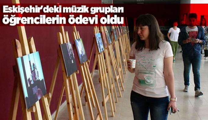 Eskişehir'deki müzik grupları öğrencilerin ödevi oldu