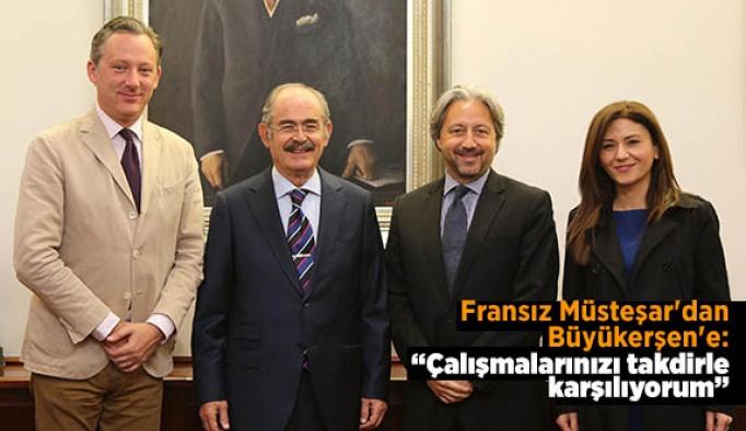 Fransız Müsteşar'dan Büyükerşen'e: Çalışmalarınızı takdirle karşılıyorum