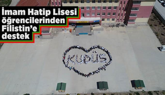 """İmam Hatip Lisesi öğrencilerinden """"Kudüs"""" kareografisi"""