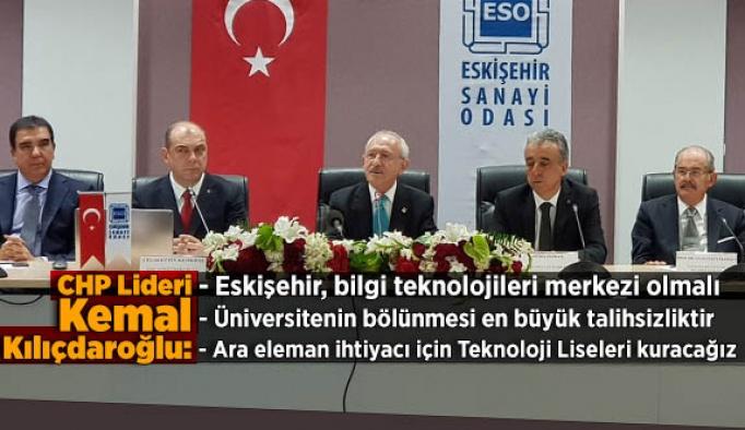 Kılıçdaroğlu: Eskişehir bilgi teknolojileri merkezi olmalı