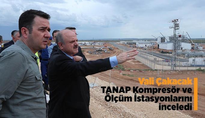 Vali Çakacak, TANAP Kompresör Ve Ölçüm İstasyonlarını inceledi