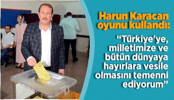 AK Parti Genel Başkan Yardımcısı Karacan oyunu Eskişehir'de kullandı