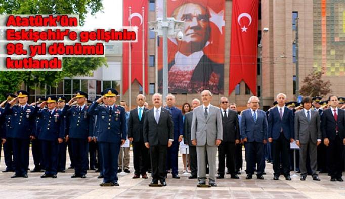 Atatürk'ün Eskişehir'e gelişinin 98. yıl dönümü kutlandı