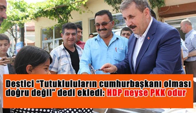 """Destici """"Tutuklulular cumhurbaşkanı olması doğru değil"""" dedi ekledi:HDP neyse PKK odur"""