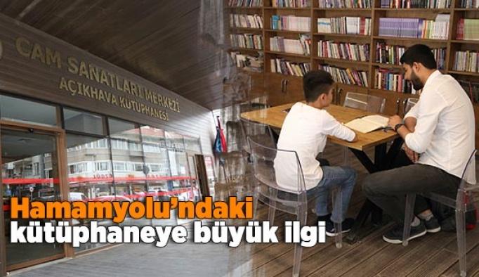 Hamamyolu'ndaki kütüphaneye büyük ilgi