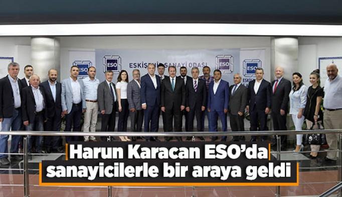 Harun Karacan ESO'da sanayicilerle bir araya geldi