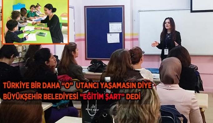 """BÜYÜKŞEHİR BELEDİYESİ """"EĞİTİM ŞART"""" DEDİ"""