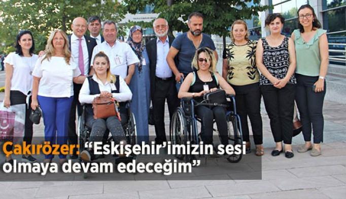 """Çakırözer: """"Eskişehir'imizin sesi olmaya devam edeceğim"""""""