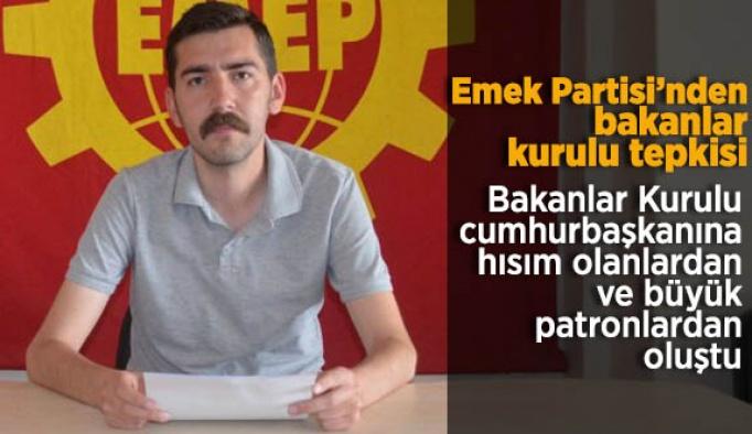 EMEK PARTİSİ'NDEN BAKANLAR KURULU TEPKİSİ