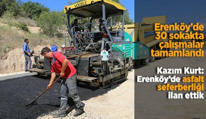 Erenköy'de 30 sokakta çalışmalar tamamlandı