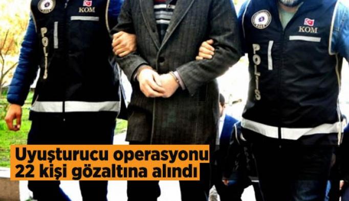 Eskişehir'de uyuşturucu operasyonu: 22 kişi gözaltına alındı