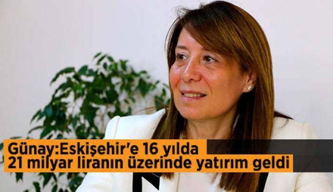 """Günay: Eskişehir sanayi ve ticaretinin gelişmesine yardımcı olmaya devam edeceğiz"""""""