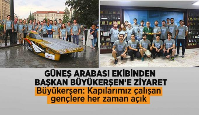 Güneş Arabası ekibinden Başkan Büyükerşen'e ziyaret