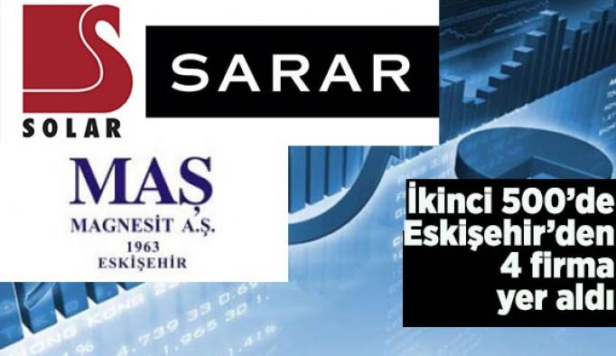 İkinci 500'de Eskişehir'den 4 firma