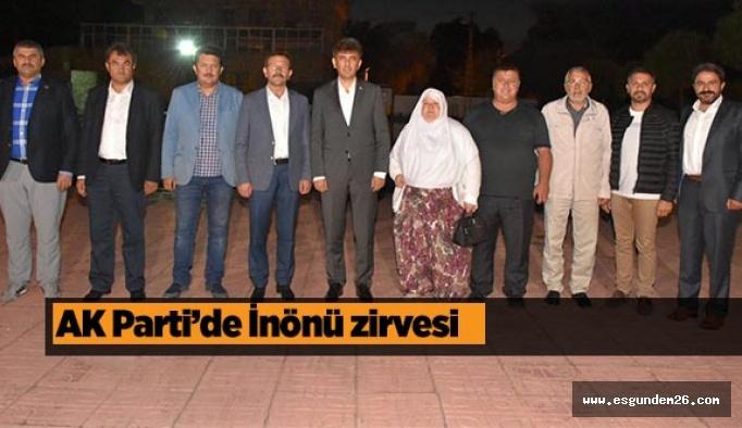 AK Parti'de İnönü zirvesi