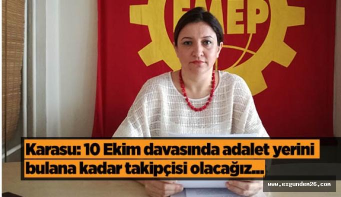 EMEK Partisi: '10 Ekim davasında adalet yerini bulana kadar takipçisi olacağız'
