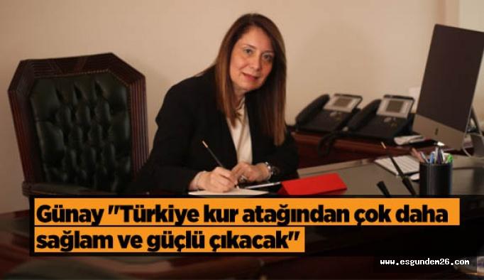 """Günay """"Türkiye kur atağından çok daha sağlam ve güçlü çıkacak"""""""