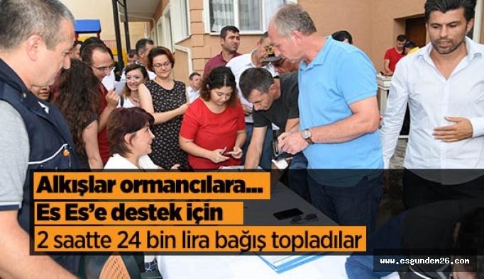 Orman teşkilatından Eskişehirspor'a destek