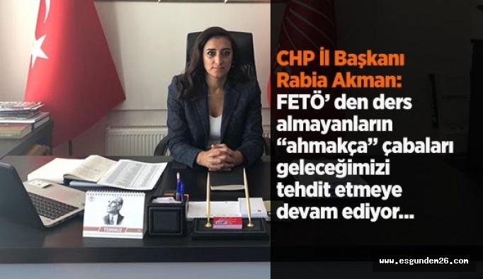 CHP İl Başkanı Rabia Akman, karma eğitim tartışmalarını eleştirdi