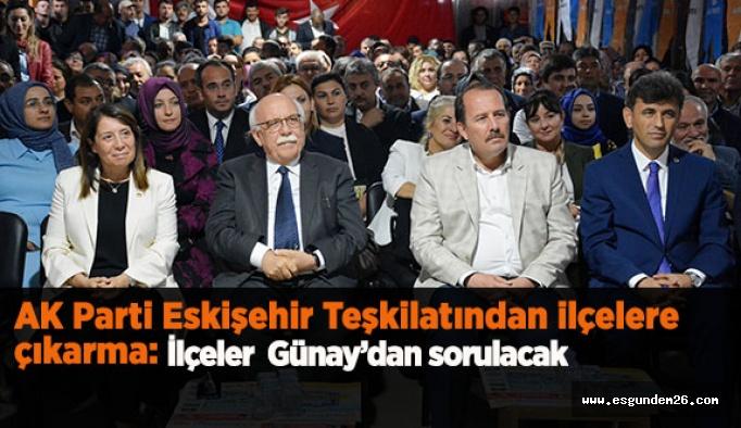 İlçeler Emine Nur Günay'dan sorulacak