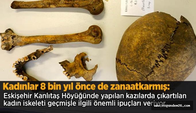 Kadınlar 8 bin yıl önce de zanaatkarmış