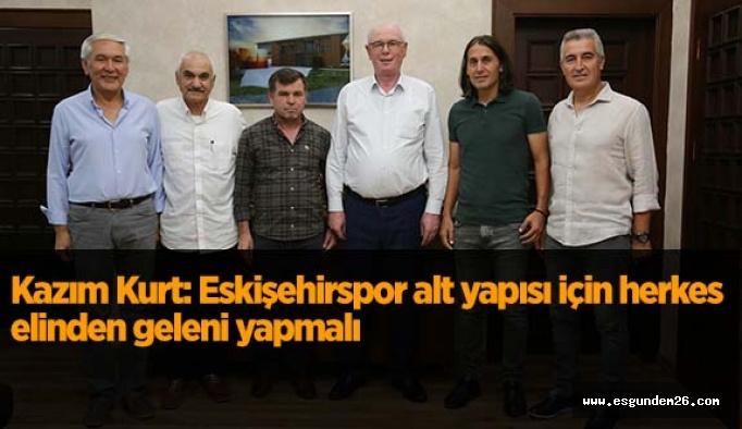 """Kazım Kurt: """"Eskişehirspor alt yapısı için herkes elinden geleni yapmalı"""""""