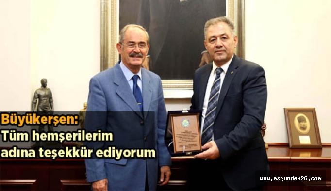 Öztekin'den Büyükerşen'e veda ziyareti