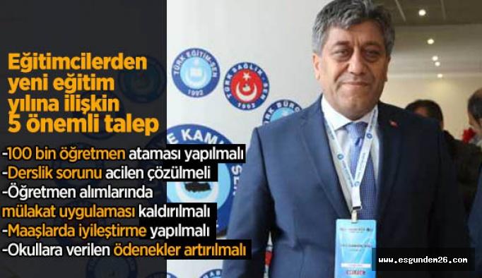 Türk Eğitim-Sen, eğitimdeki sorunları sıraladı