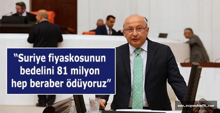 Çakırözer AKP'nin  Ortadoğu politikasını ağır eleştirdi