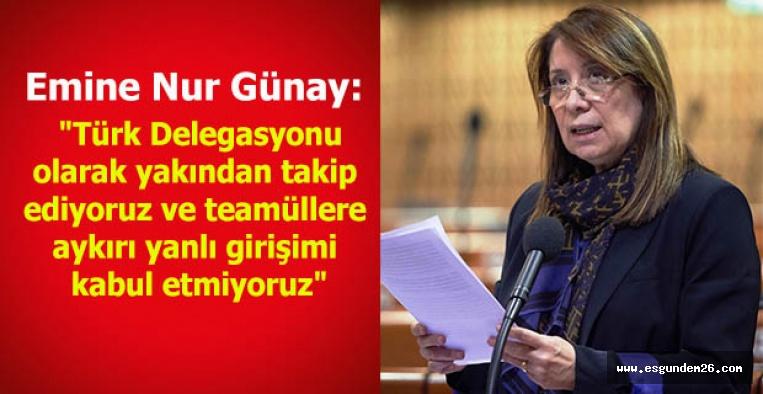 Günay'ın raportörlükten çekildİ