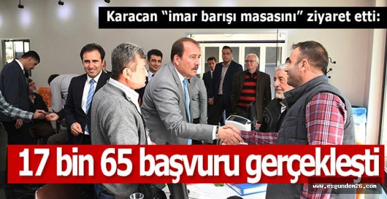 "Karacan ""imar barışı masasını"" ziyaret etti:"