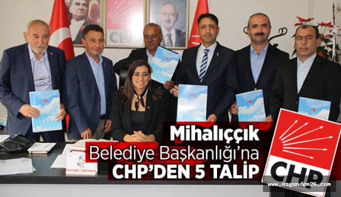 Mihalıççık Belediye Başkanlığı'na CHP'den 5 talip