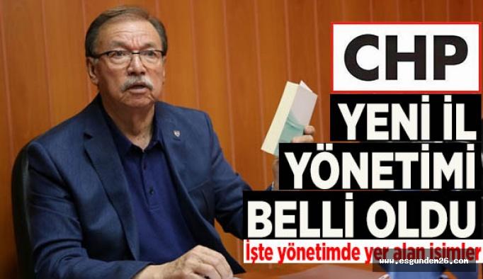 CHP'de yeni il yönetimi belli oldu