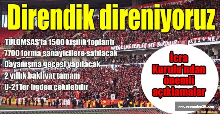 Eskişehirspor İcra Kurulu son durumu açıkladı