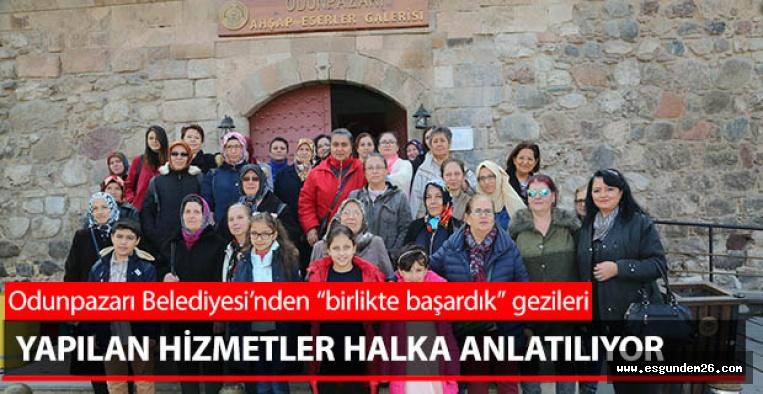 """ODUNPAZARI BELEDİYE """"BİRLİKTE BAŞARDIK"""" DEDİ"""