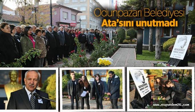 Odunpazarı Belediyesi Ata'sını unutmadı