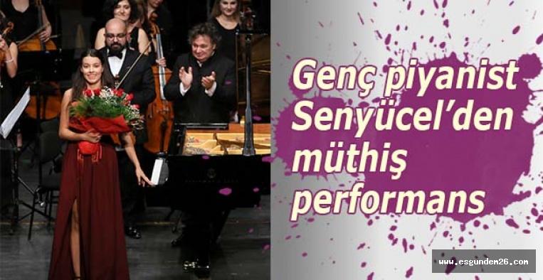 Senfonide genç piyanist Senyücel'den müthiş performans