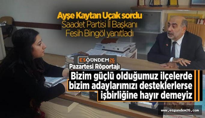 SP İl Başkanı Bingöl: AK Parti İl Başkanı, Eskişehir halkının gözüne baka baka gerçeği ifade etmedi…