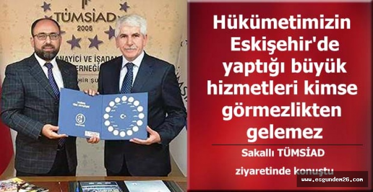 AK Parti Büyükşehir Belediye Başkan adayı Sakallı'dan TÜMSİAD'a ziyaret
