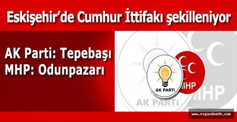 AK Parti: Tepebaşı ve Büyükşehir - MHP Odunpazarı