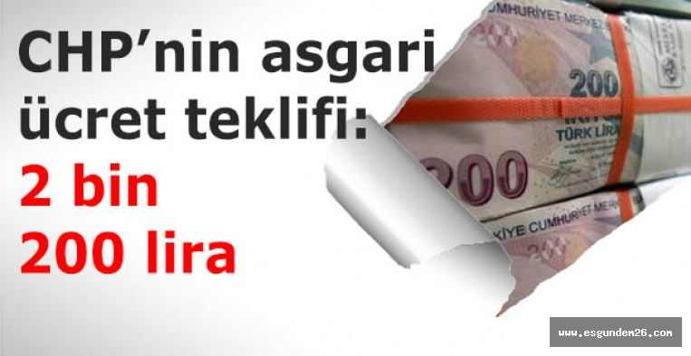 CHP'den asgari ücret teklifi: 2 bin 200 lira