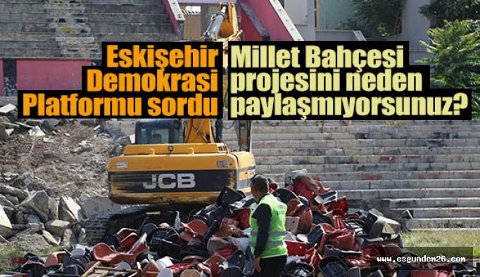 Eskişehir Demokrasi Platformu: Proje nerede?