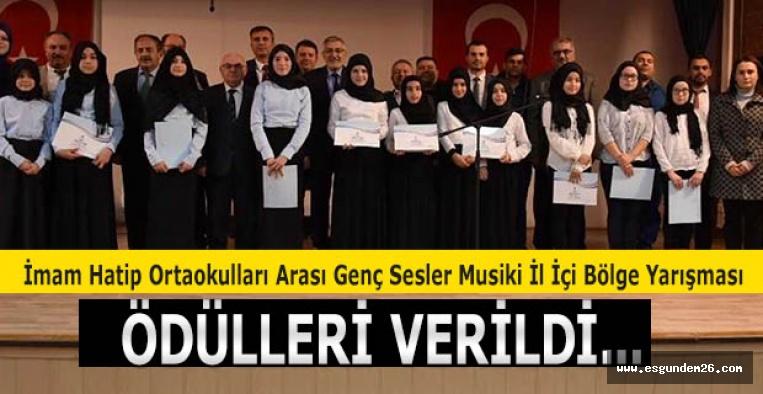 """İnönü'de """"Genç Sesler Musiki İl İçi Bölge Yarışması"""" yapıldı"""