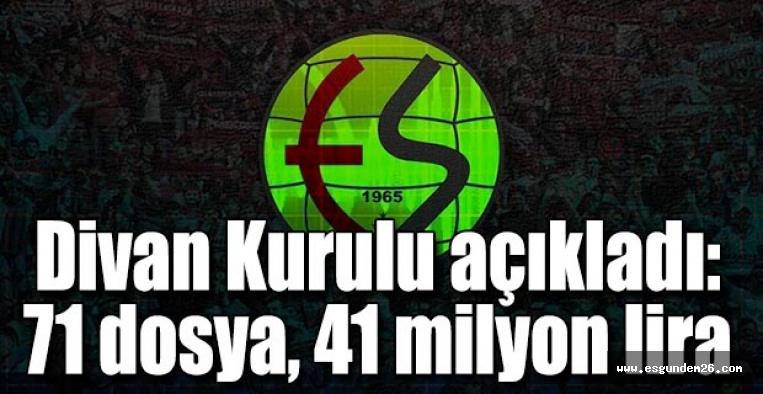 Divan kurulu açıkladı: 71 dosya 41 milyon lira