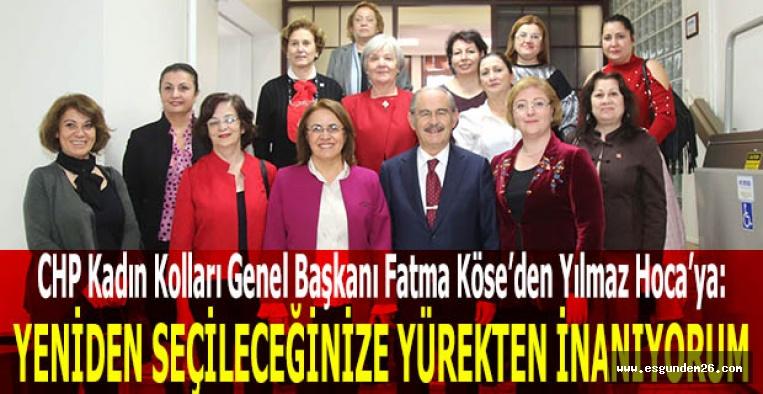 CHP Kadın Kolları Genel Başkanı Köse: Yeniden seçileceğinize yürekten inanıyorum