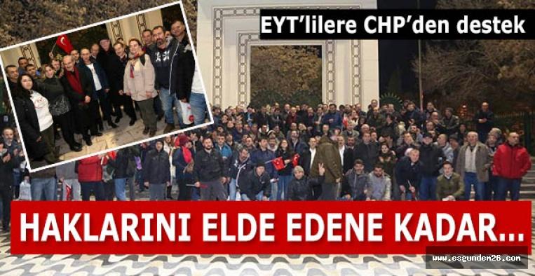 EYT'lilere CHP'den destek:HAKLARINI ELDE EDENE KADAR…