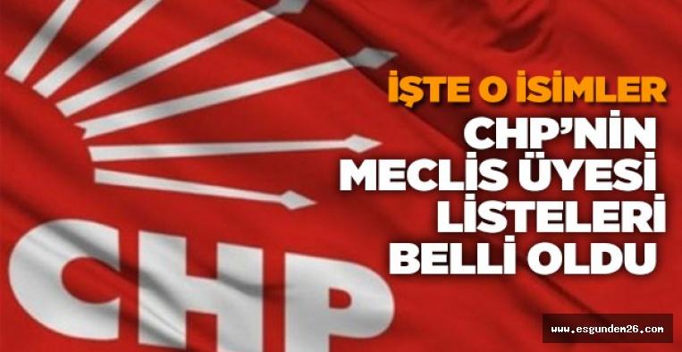 İŞTE CHP'NİN BELEDİYE MECLİS ÜYESİ ADAY LİSTESİ